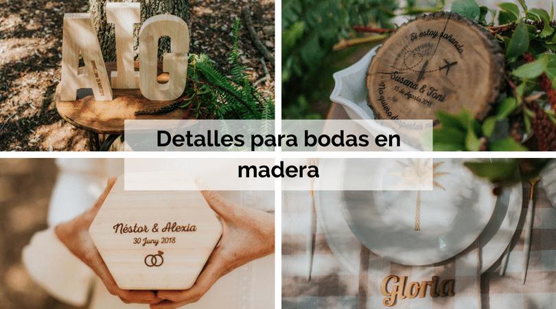 Detalles para bodas en madera