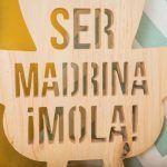 Chupete de madera de decoración madrina/padrino