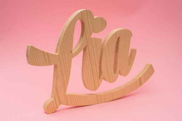 nombre en madera decoracion