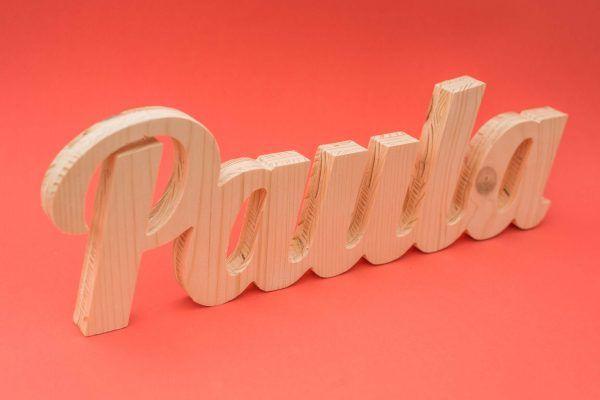 nombre personalizado en madera para regalar
