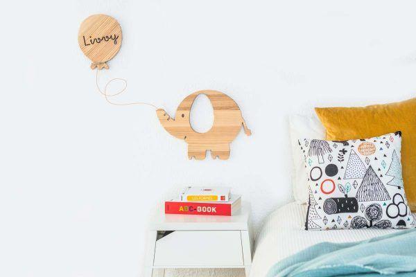 decoracion elefante personalizado de madera