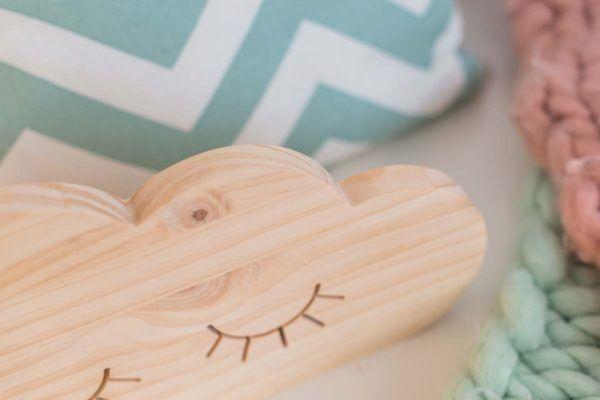 nube de madera decoracion bebe