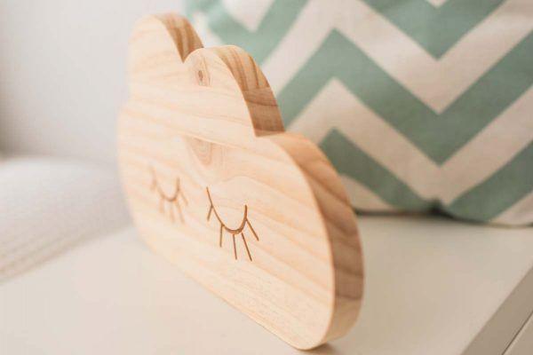 nube de madera decoracion infantil