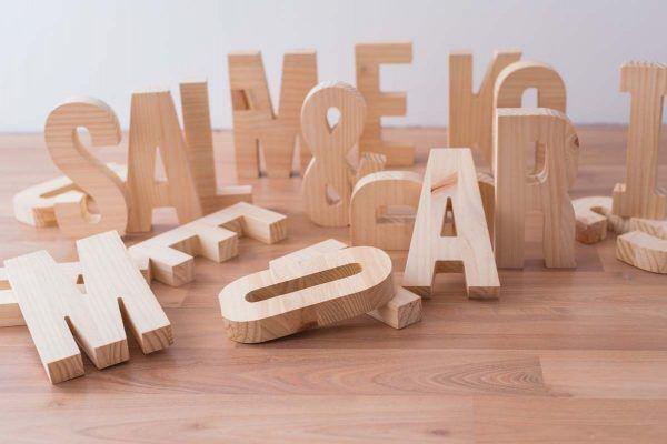 letras de madera la letreria