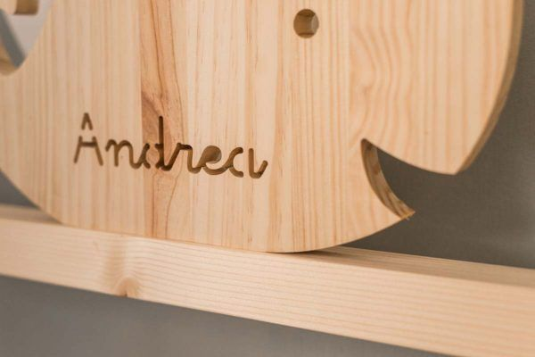 ballena de madera infantil