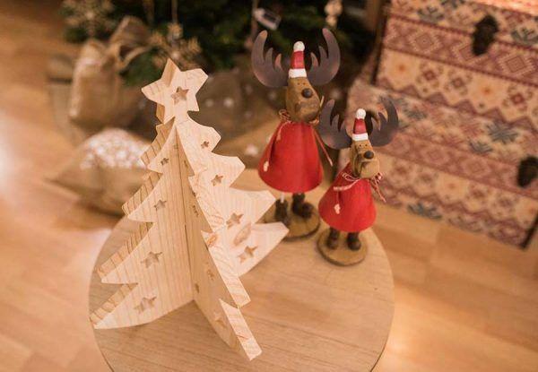 arbol de navidad en madera para decorar original