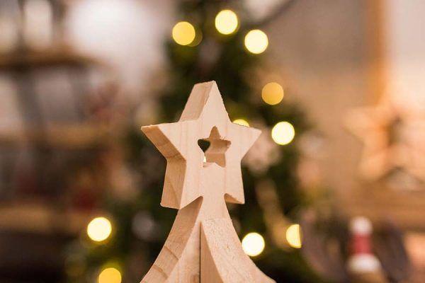 arbol de navidad en madera
