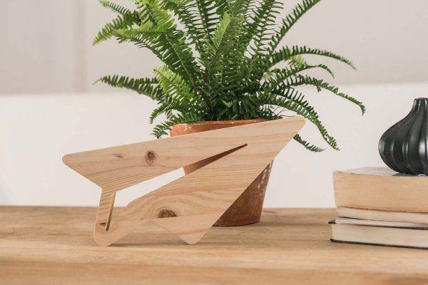 Avión de papel de madera la letreria