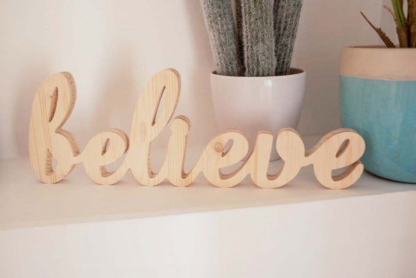 BELIEVE DECORACION