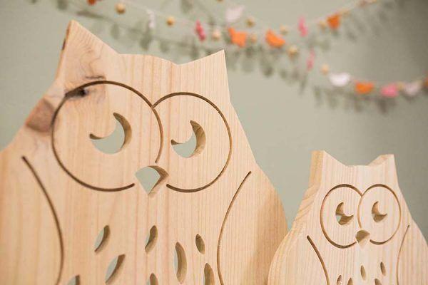 buho de madera originales