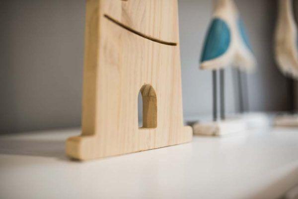 faro de madera decoracion