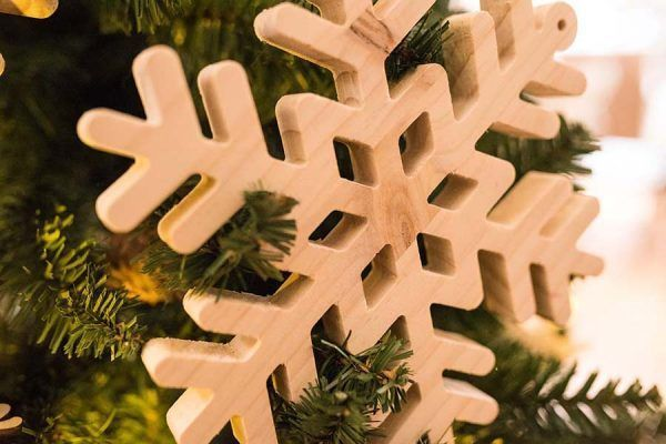 copos de nieve madera de decoracion